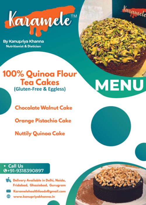 100 % quinoa flour tea cakes