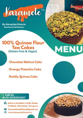 quinoa flour vegan menu